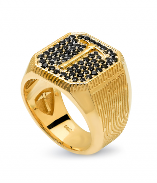 Forty-Niner | 14k Gold | Black Diamonds
