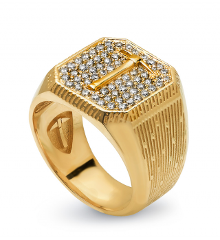 Forty-Niner | 14k Gold | White Diamonds