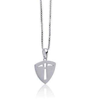 "Prospector | Modest | 18"" Silver Chain"